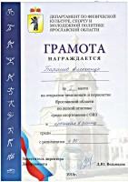 Открытый чемпионат и первенство Ярославской области по легкой атлетике среди спортсменов с ограниченными возможностями здоровья 2018.
