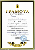 Соревнования открытого чемпионата и первенства города Ярославля и ГАУ ЯО «Спортивно – адаптивная школа» по плаванию среди спортсменов с ограниченными возможностями здоровья.