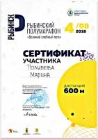 """Рыбинский полумарафон """"Великий хлебный путь"""" 2018 г."""